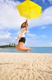 9个海滩乐趣 免版税库存图片