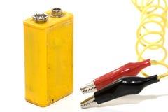 9个电池伏特 免版税库存图片