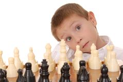9个男孩棋 库存图片