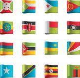 9个非洲标志零件向量 库存例证