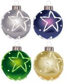 9件圣诞节装饰品卷 免版税库存图片