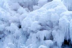 9冻结瀑布 库存图片