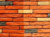 9块砖模式石墙 免版税库存照片