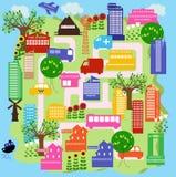 9城市 向量例证