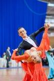 9对成人比拉罗斯夫妇跳舞米斯克10月 库存照片