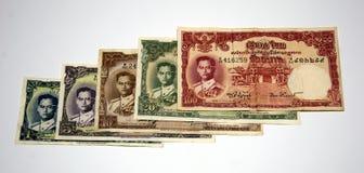 9张泰国钞票模型更旧的rama 免版税库存照片