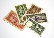 9张泰国钞票模型更旧的rama 库存图片