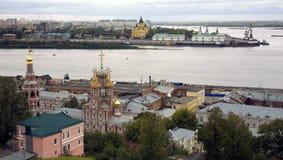 9月视图端口Strelka Nizhny Novgorod 库存照片