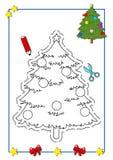 9本书圣诞节着色 库存图片