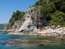9横向岩石海岸 免版税图库摄影