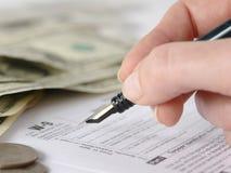 9装载的表单税务w 免版税库存图片