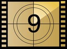 9读秒影片编号向量 库存例证