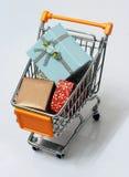 9辆购物车购物 免版税图库摄影