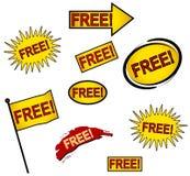 9 ícones ou teclas livres do Web Foto de Stock Royalty Free