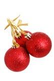9 απομονωμένα Χριστούγενν&alph Στοκ Εικόνες