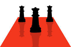 9 κομμάτια σκακιού ελεύθερη απεικόνιση δικαιώματος