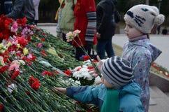 9 Μαΐου στο Τομσκ Στοκ Εικόνες
