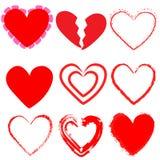 9 μορφές καρδιών Στοκ εικόνες με δικαίωμα ελεύθερης χρήσης