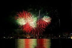 9 πυροτεχνήματα Στοκ Εικόνες