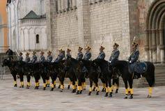 9 φρουρά Κρεμλίνο Μόσχα Στοκ Εικόνα