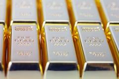 9 золото 999 штрафов Стоковая Фотография RF
