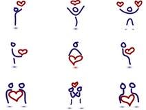 9 людей влюбленности иллюстрация штока