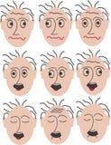 9 различных mimics Стоковая Фотография RF