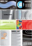 9 установленных визитных карточек Стоковое фото RF
