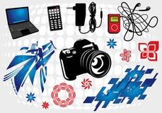 9 δημιουργικό σύνολο Στοκ Εικόνες