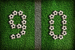 9,0 - number of football Stock Image