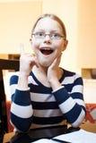 9 10 παλαιά έτη μαθητριών πορτρέτ Στοκ εικόνες με δικαίωμα ελεύθερης χρήσης