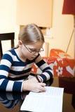 9 10 старых лет школьницы портрета Стоковые Изображения