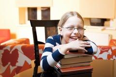 9 10 старых лет школьницы портрета Стоковые Изображения RF
