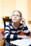 9 10 gammala ståendeschoolgirlår Royaltyfri Bild