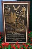 9 11份纪念品momument公园 免版税库存图片