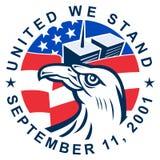 9-11 águila calva americana Imagen de archivo libre de regalías