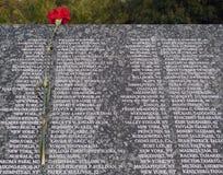 9 11 εμφανίζουν λίστα τα θύμα&tau Στοκ Εικόνες