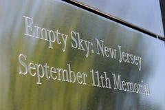 9-11 мемориальный знак Стоковое Изображение