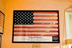 9/11 флагов почетности Стоковая Фотография