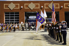 9 11 Ceremony Honor Guard Presenting Colors Royalty Free Stock Images