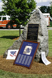 9 11 Ceremony Memorial and Fire Truck Stock Images