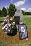 9 11 conmemorativos y guirnalda Fotografía de archivo