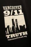 9/11 de demonstração, Canadá (setembro 1ø 2009) Fotografia de Stock Royalty Free