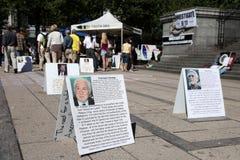 9/11 demostración, Canadá (el 11 de septiembre de 2009) Fotos de archivo libres de regalías