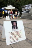 9/11 demostración, Canadá (el 11 de septiembre de 2009) Fotografía de archivo libre de regalías