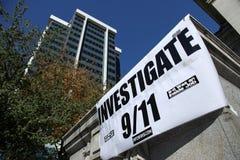 9/11 demostración, Canadá (el 11 de septiembre de 2009) Fotos de archivo