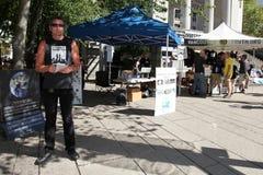 9/11 demostración, Vancouver (el 11 de septiembre de 2009) Foto de archivo libre de regalías