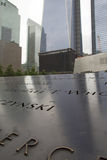 9/11 di memoriale al ground zero (NYC, U.S.A.) Immagine Stock