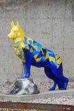 9/11 di memoriale del cane di salvataggio Fotografie Stock