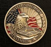 9/11 Erinnerungsmünze Lizenzfreies Stockbild